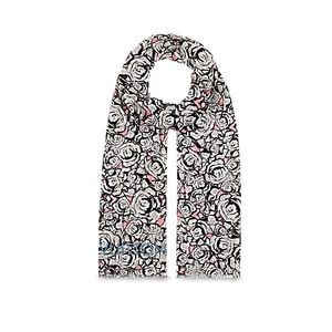 Stephen Sprouse Rock N' Roses Scarf In Pearl Grey